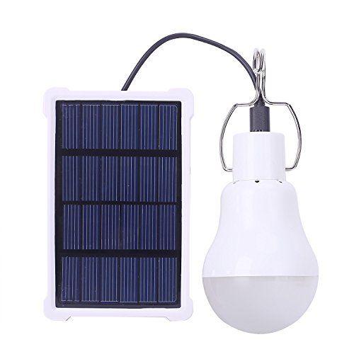Kk Bol Portable Led Light Bulb Solar Panel Powered Rechar Https Www Amazon Com Dp B071jljvhk Ref Cm Sw R P Portable Led Lights Solar Lamp Solar Light Bulb