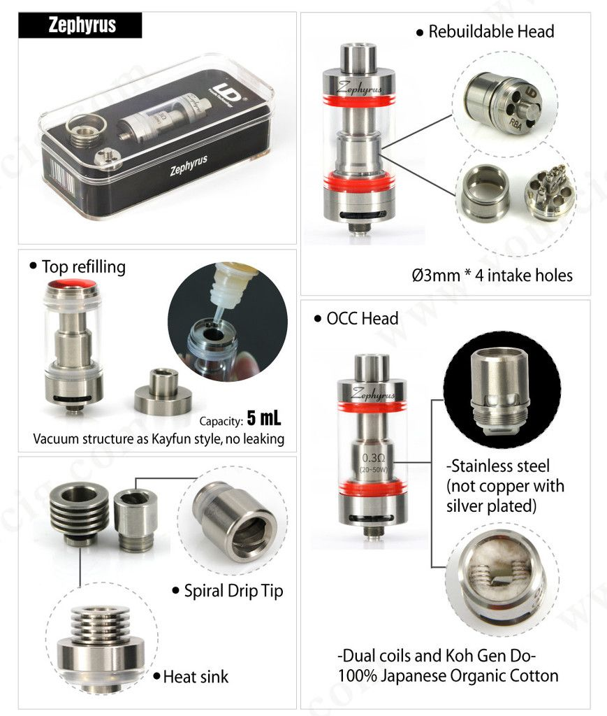 Zephyrus Sub Ohm Tank By Ud Vaping Ecigs Use Code Dna10 For 10 Off Vape Tanks Vape Vape Mods