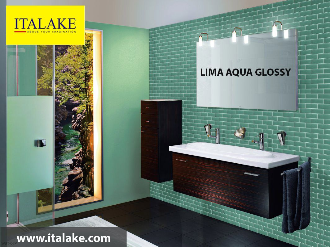 Italake is leading Lima Aqua Glossy Cermic Wall Tiles ...