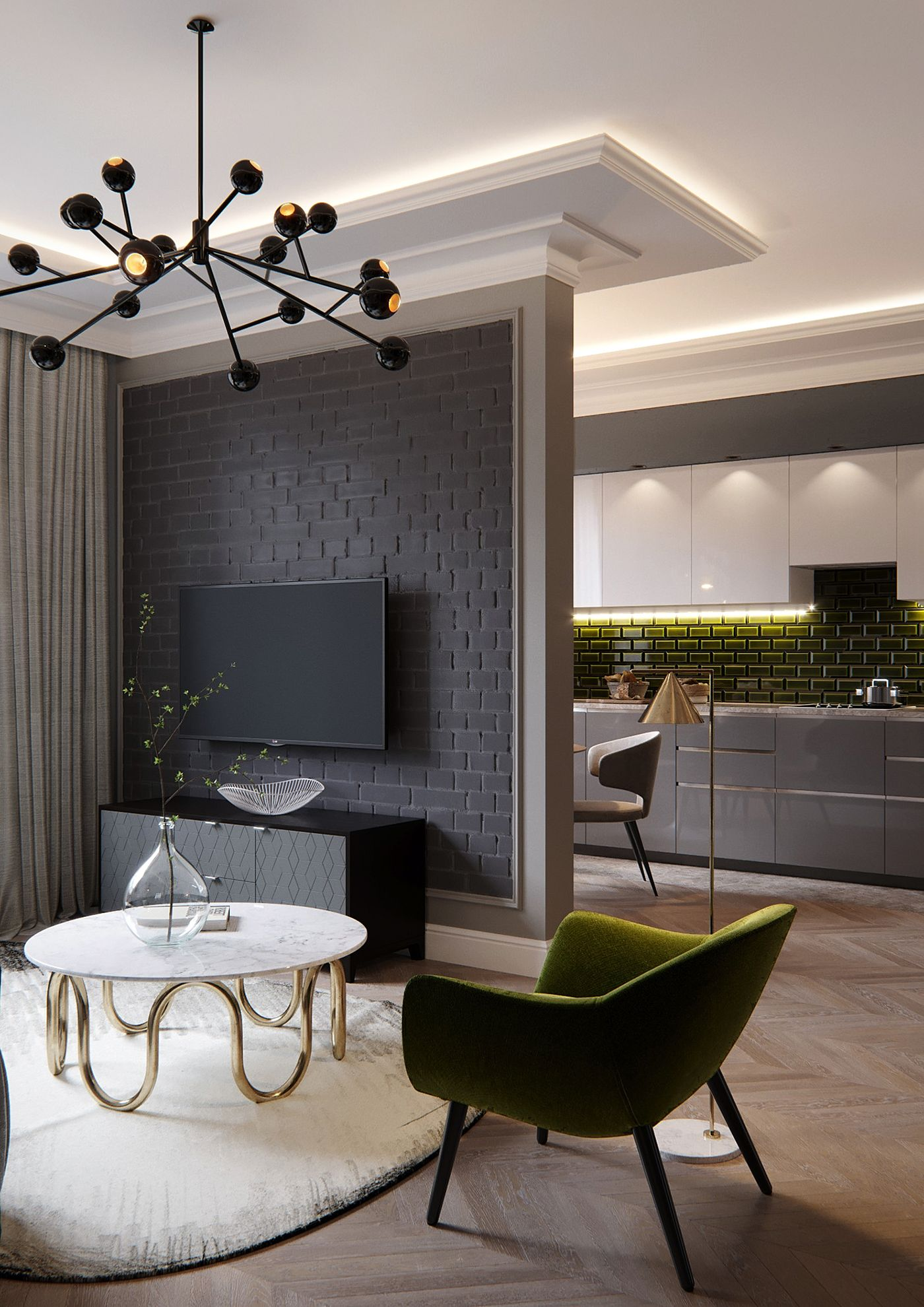 Arte Furniture Showroom Yerevan French Style Apartment On Behance False Ceiling Ideas Interior