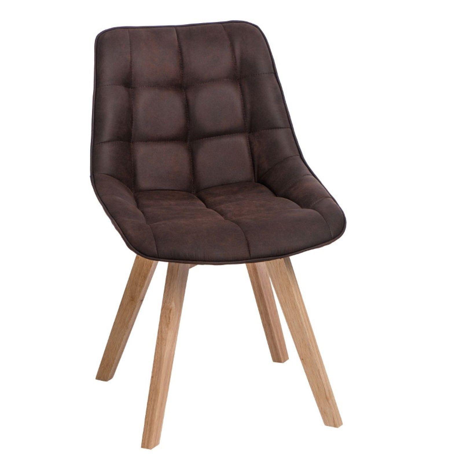 Woody kárpitozott szék Sötét barna Woody szék rendkívül