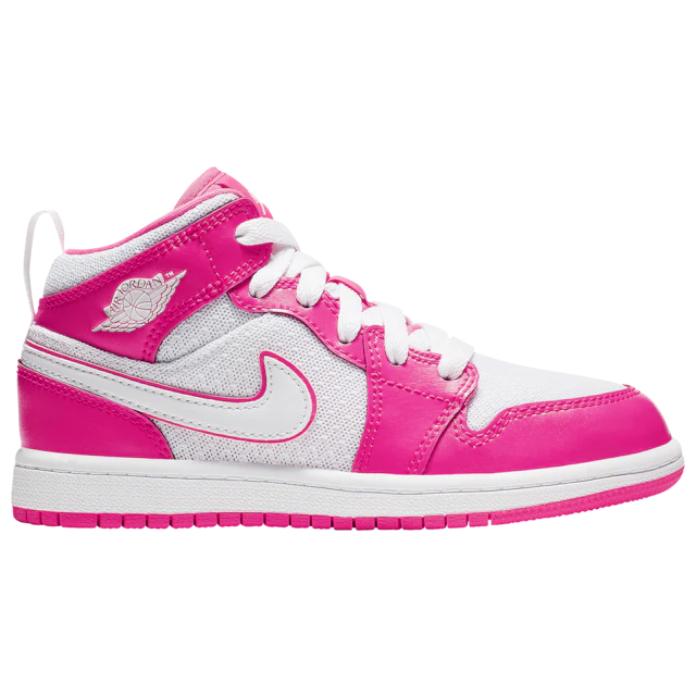 Jordan AJ 1 Mid Girls' Preschool Champs Sports