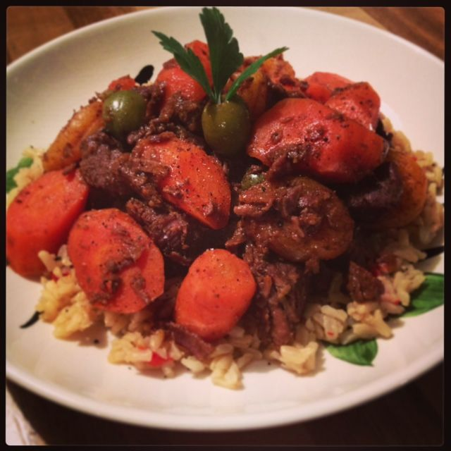 Moroccan Lamb Tagine with Apricots and Olives