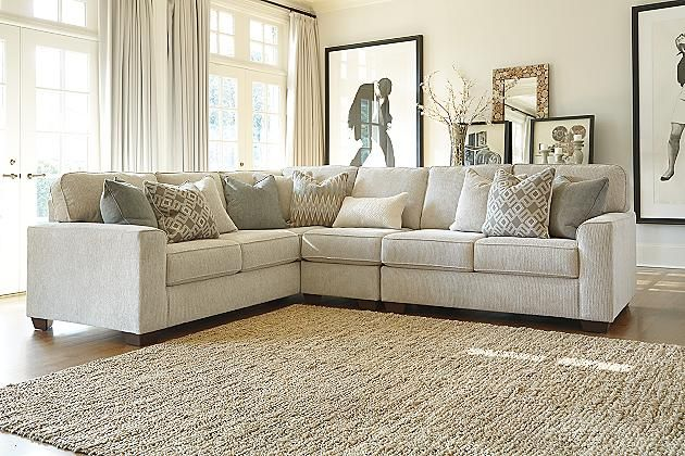 Sand Salonne 3 Piece Sectional View 1 Great Room Ideas