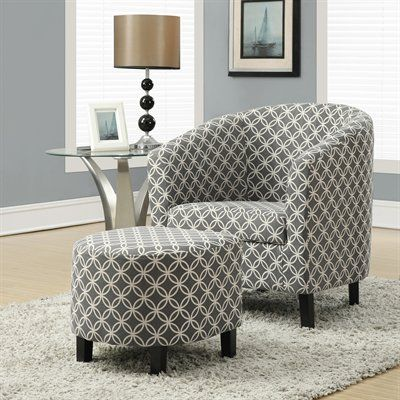 Best Monarch Specialties Accent Chair I 80 Fabric And Ottoman 400 x 300