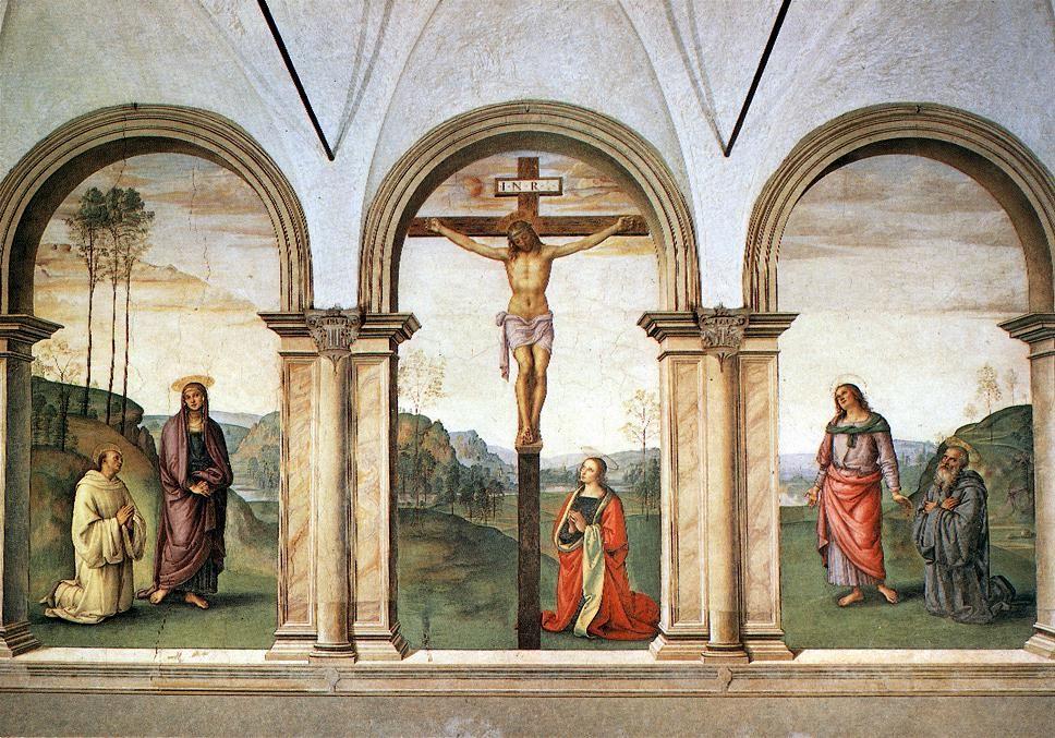 Perugino - (Escuela Umbra) Maestro de Rafael - Frescos en Santa Maria Pazzi (La Crucifixión de Pazzi) Quattrocento.