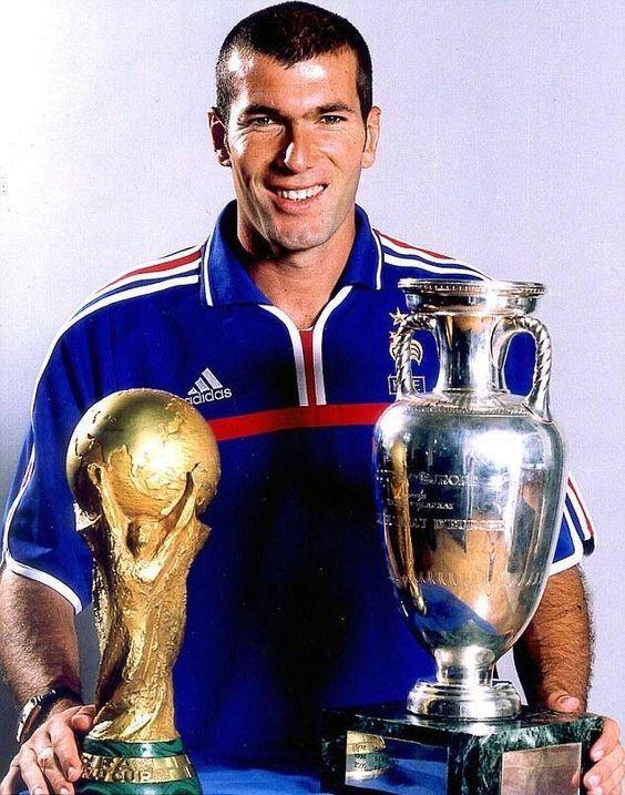 Zinedine zidane world cup european championship winner - Zidane coupe du monde 1998 ...
