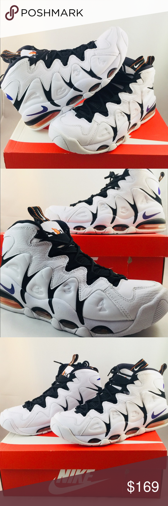 e6c8fc2167d Brand new STYLE    414243-100 COLORWAY  White Varsity Purple-Black-Orange  Blaze MENS SIZE 10 Nike Shoes Athletic Shoes. Nike Air Max CB34 Charles  Barkley ...