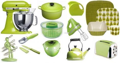 green kitchen items | Color Inspiration | Pinterest | Green kitchen ...