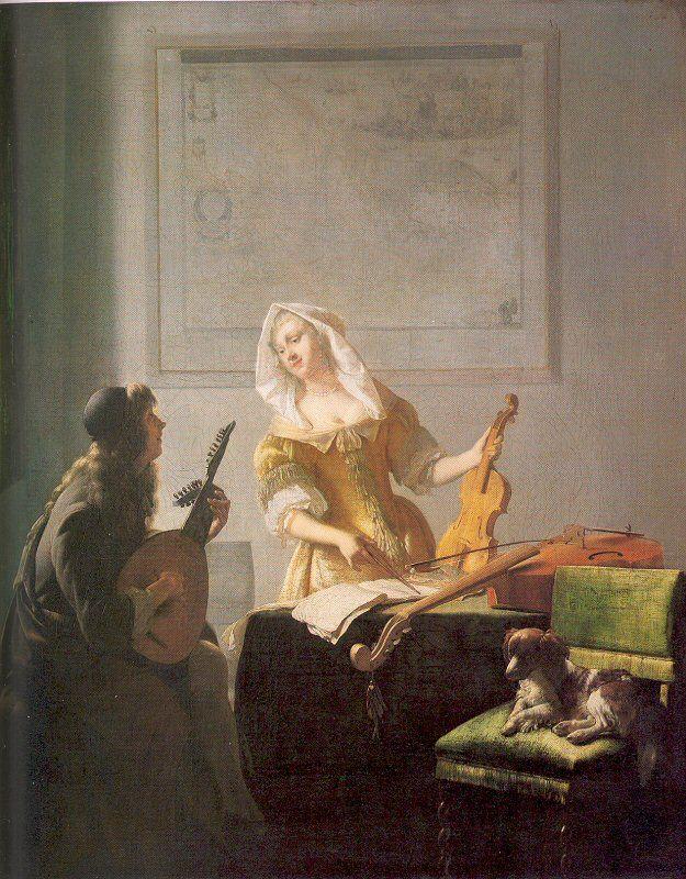 Jacob Ochtervelt, Dutch, 1634-1682 The Music Lesson, 1671