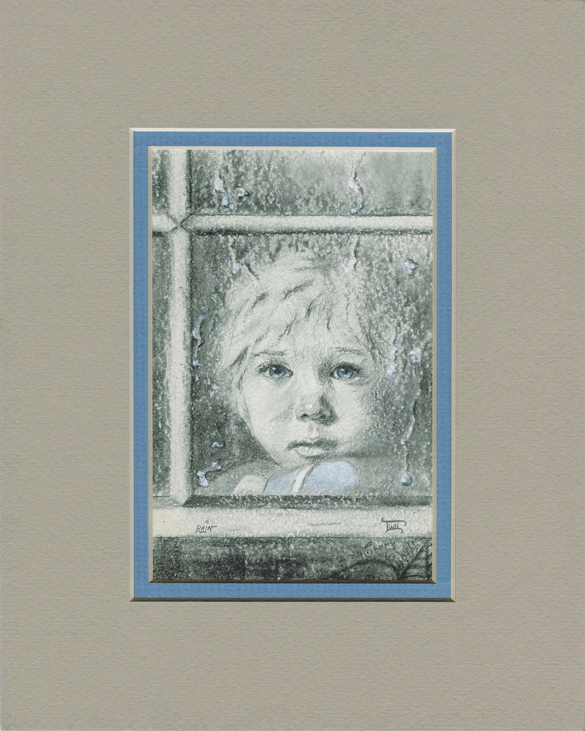 """Rain"" (matted) by Terry Webb Harshman"