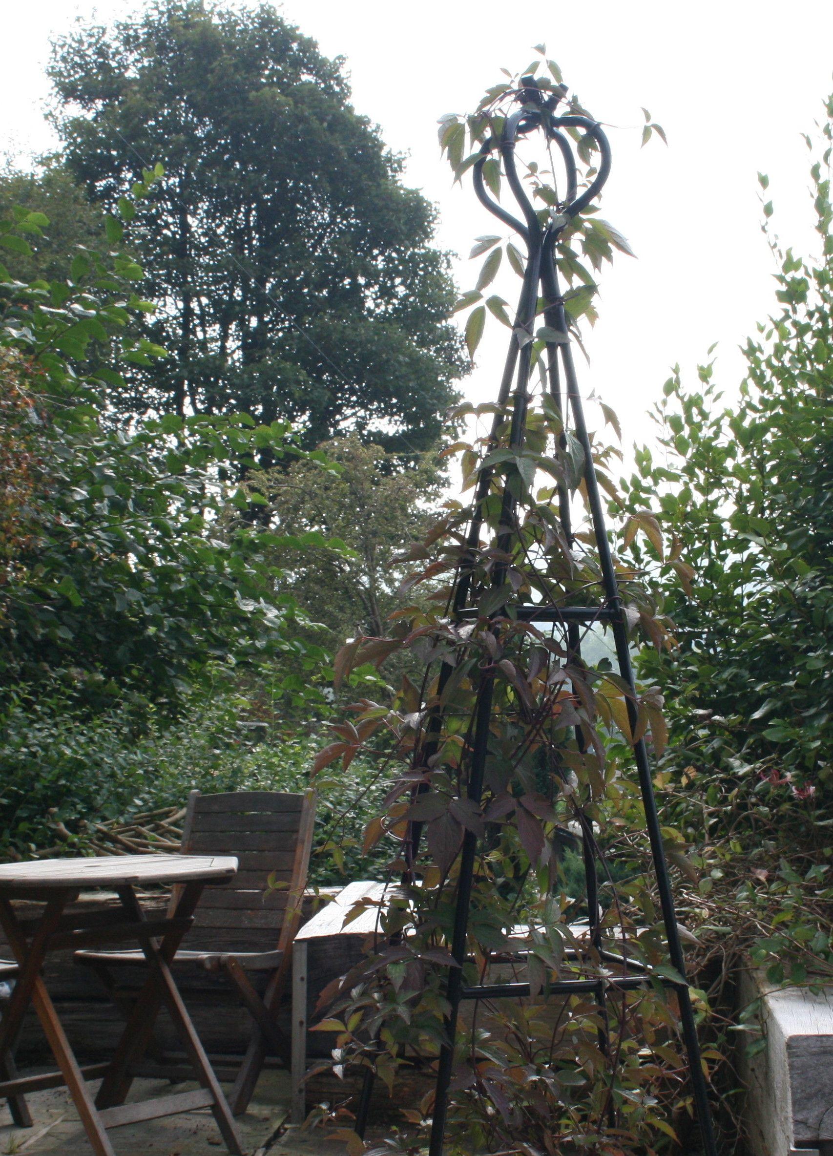 Image result for metal garden obelisk Garden obelisk