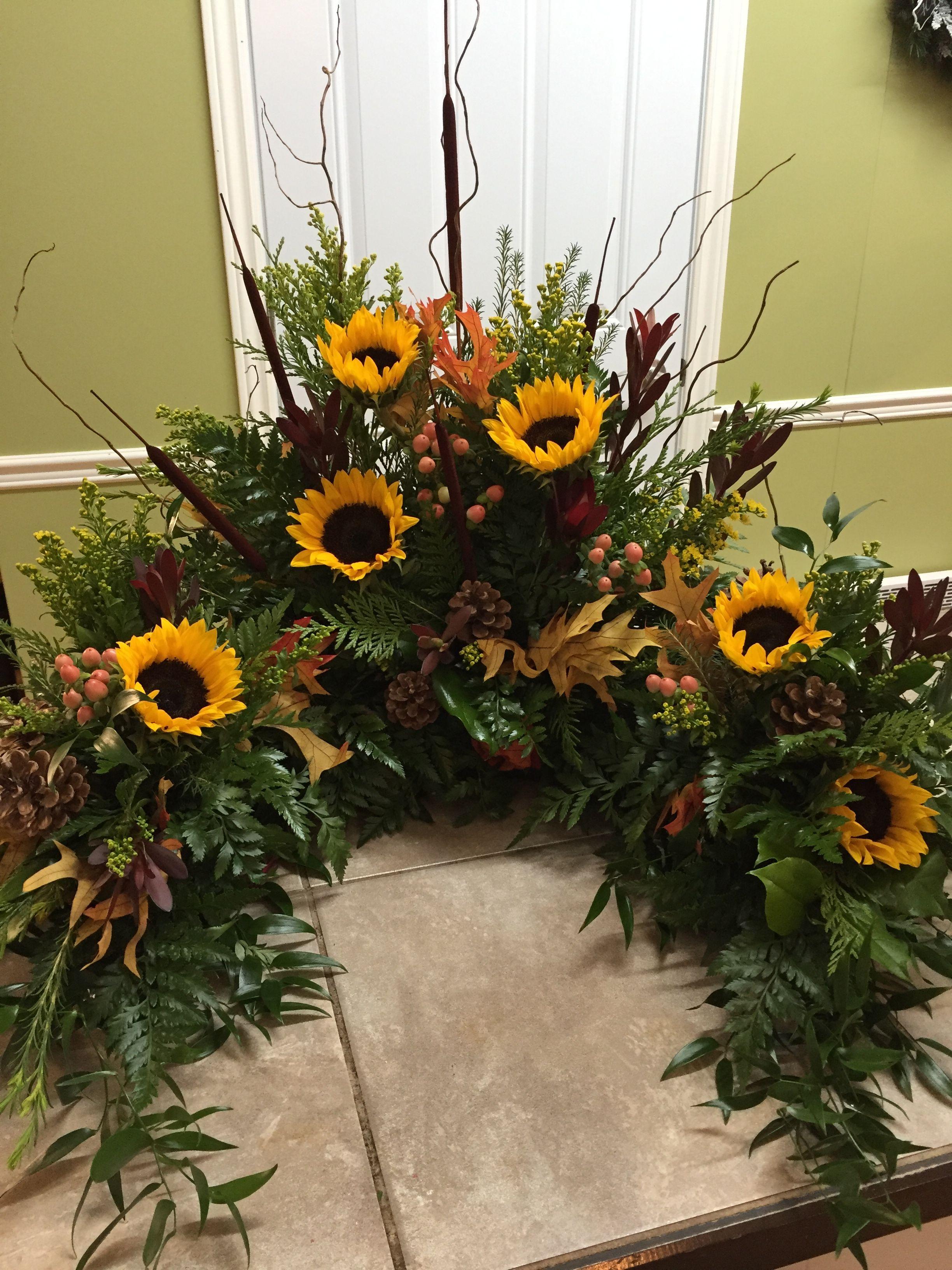 wedding urn flower arrangements