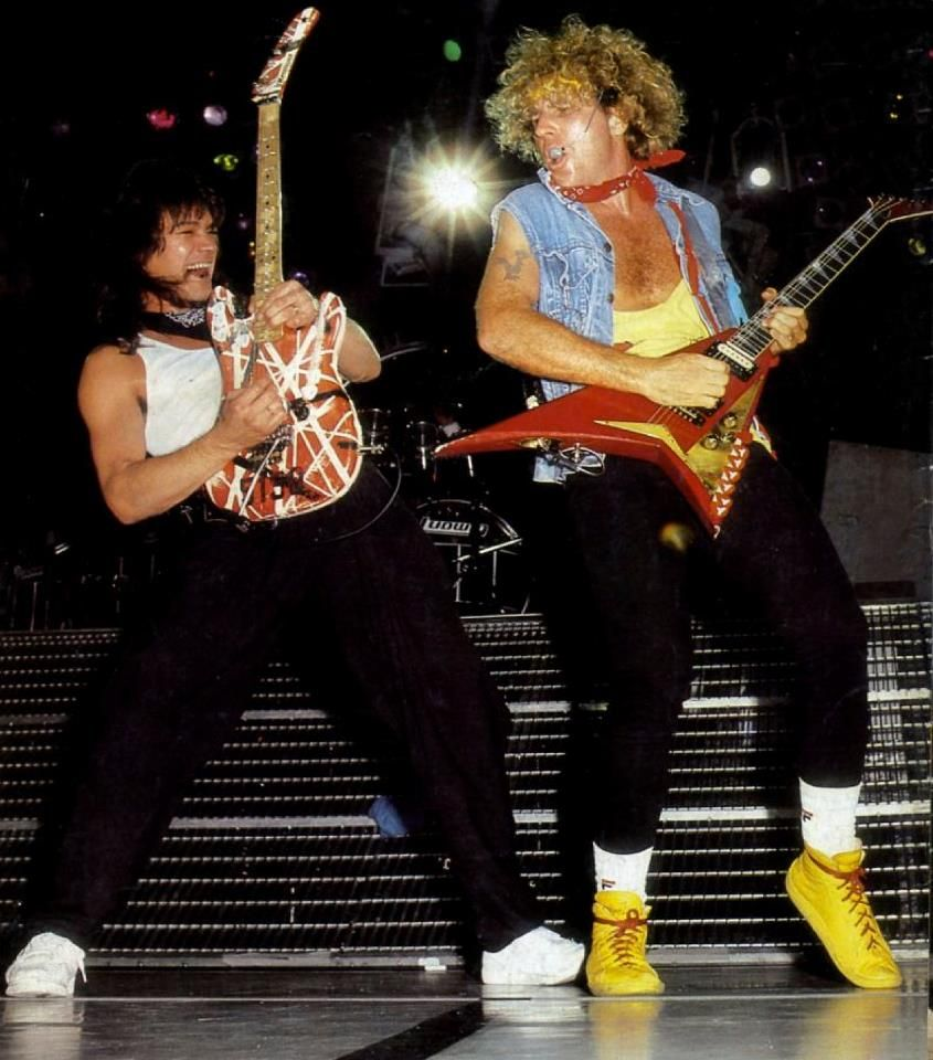 Eddie And Sammy Eddie Van Halen Van Halen Music Photo
