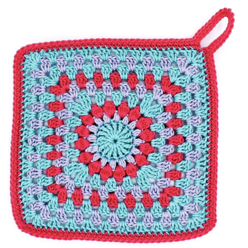 Photo of Häkelanleitung: Granny Square Topflappen – Ms. Line