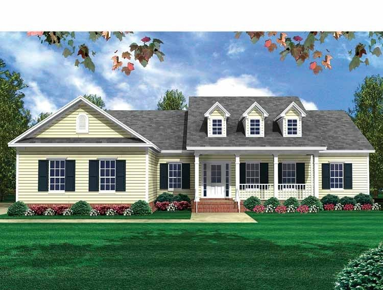 Eplans country house plan classic brick exterior 1800 for Brick country house plans