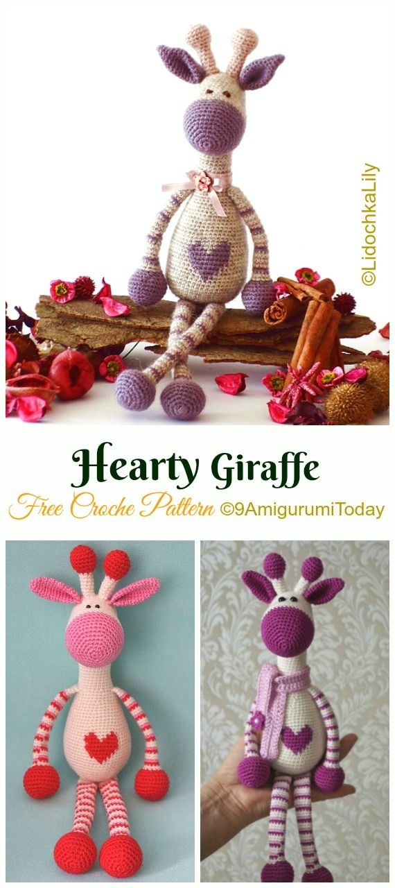 Amigurumi Giraffe Toy Free Crochet Patterns • DIY How To