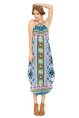 The Sugarlips Bon Weekender Dress is an ethnic printed maxi dress. Features a curved hem. Adjustable straps.  Price : $64.00 #MyLuluCloset #Sugarlips #NewArrivals