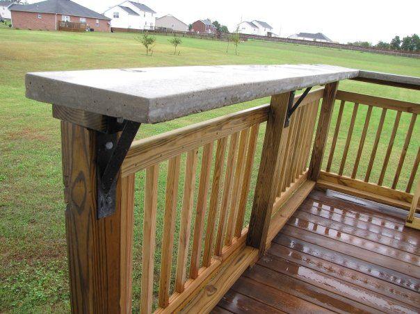 Bar On Wood Deck See Steel Supports Patio Railing Balcony Bar