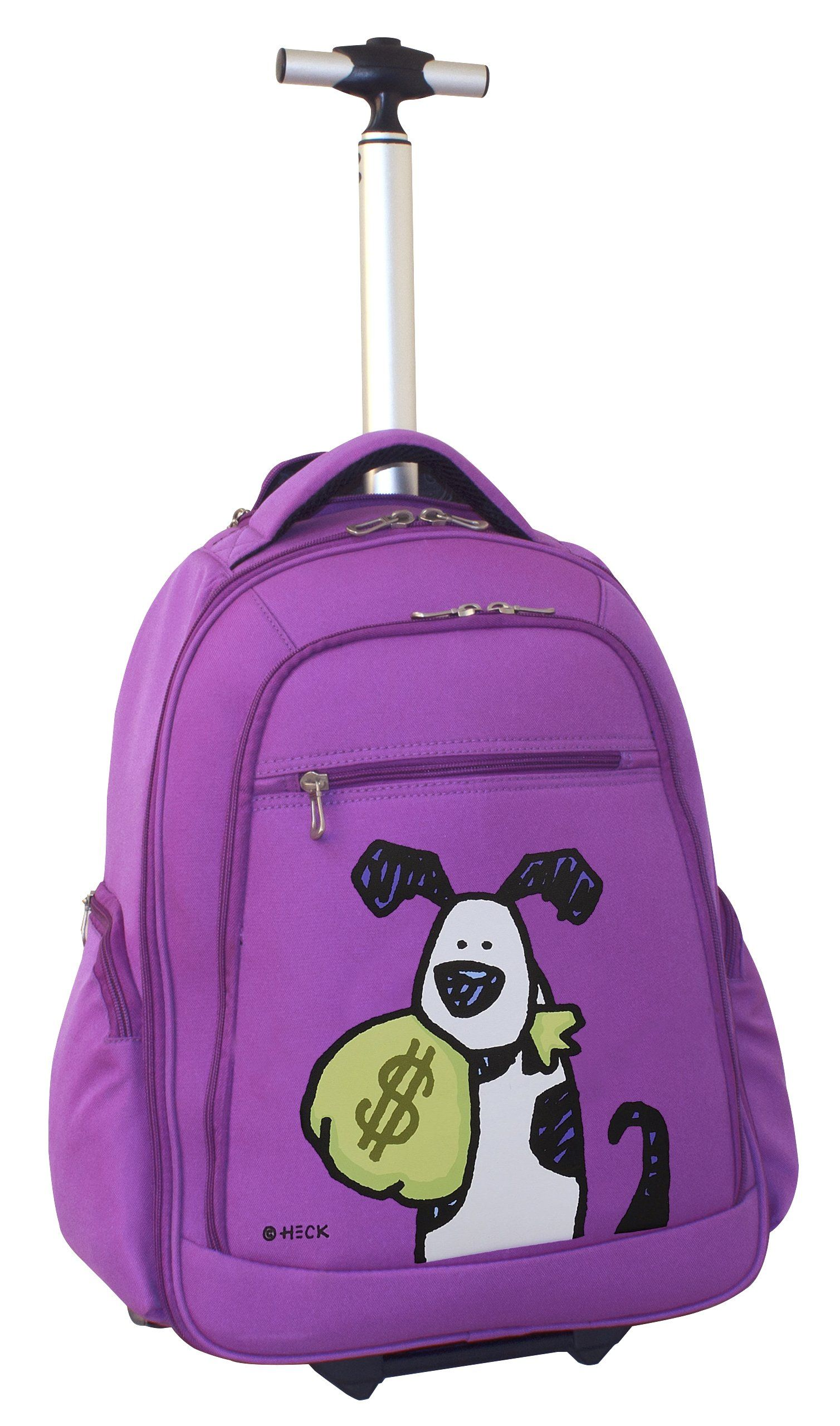 Ed Heck Money Doggie Wheeled Backpack 20 Inch, Purple, One Size ...