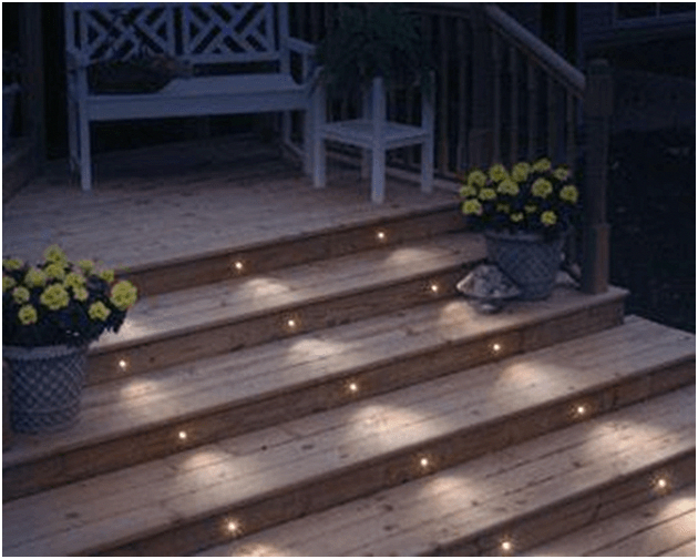Deck Lights Are Used To Illuminate Outdoor Deck Or Patio To Improve Safety Visibility And Aesthetic Outdoor Deck Lighting Patio Deck Designs Deck Lighting
