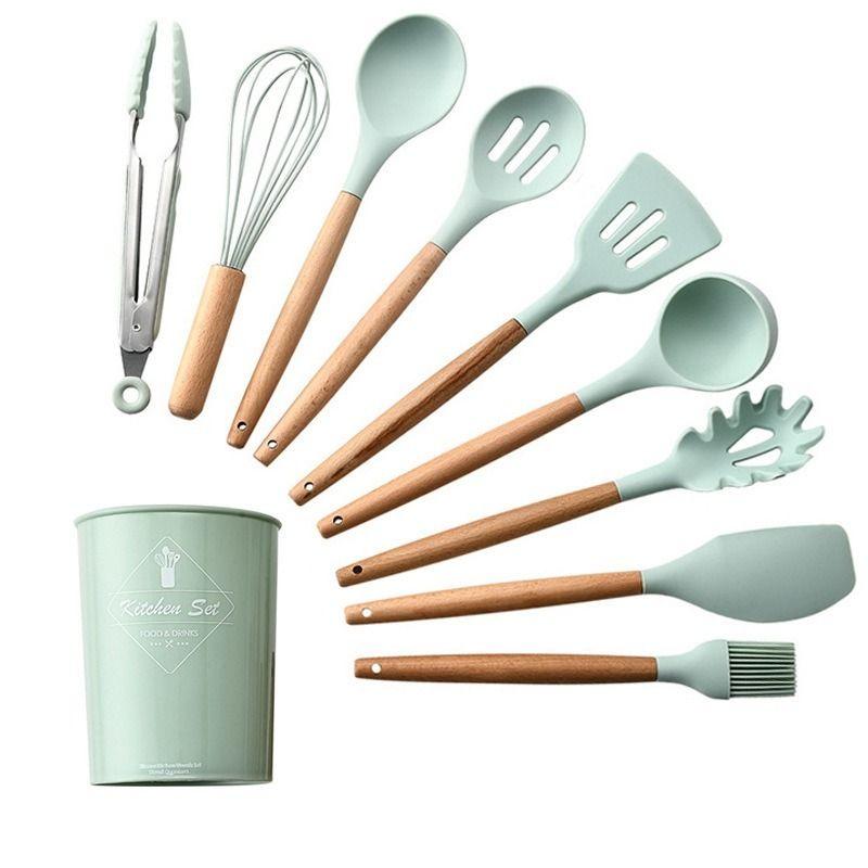 9//11Pcs Silicone Cooking Utensils Set Kitchen Cooking Utensils Baking Tools