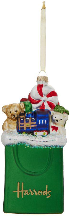 Harrods Shopping Bag Christmas Decoration #ad