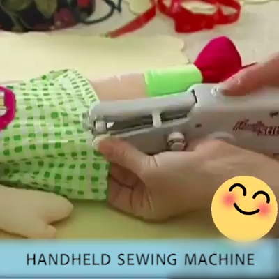 Photo of Mini Handheld Manual Sewing Machine Quick Stitch DIY Tool