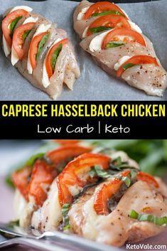 Keto Caprese Hasselback Chicken Breast #hasselbackchicken