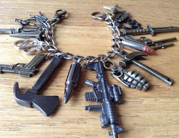Zombie Apocalypse Charm Bracelet ZA317 by NormanJewelry on Etsy