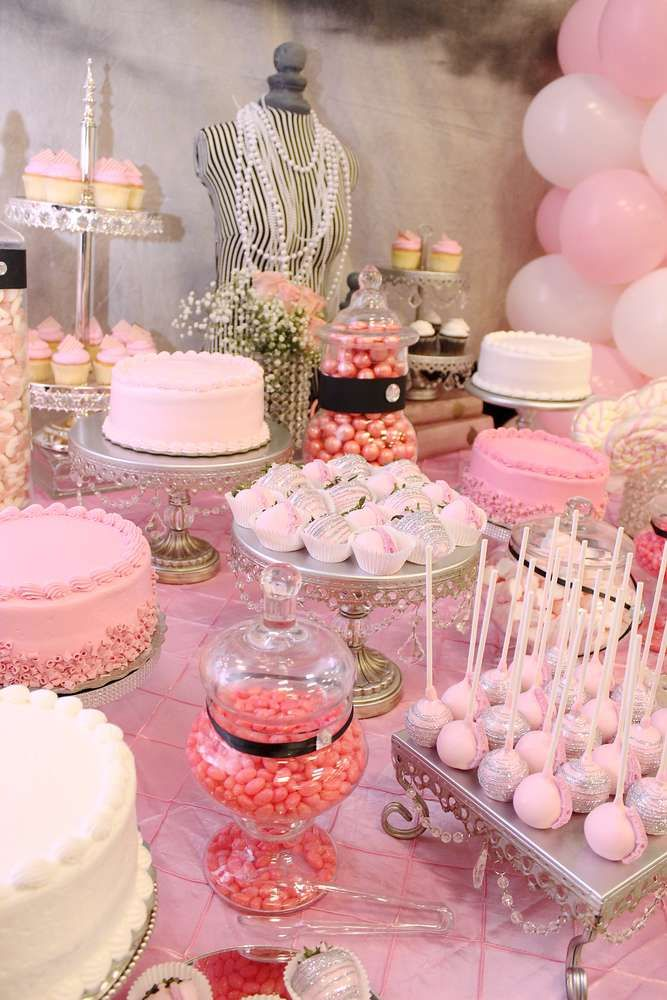 French Parisian Birthday Party Ideas Photo 8 Of 30 Parisian Birthday Party Princess Theme Birthday Party Pink First Birthday