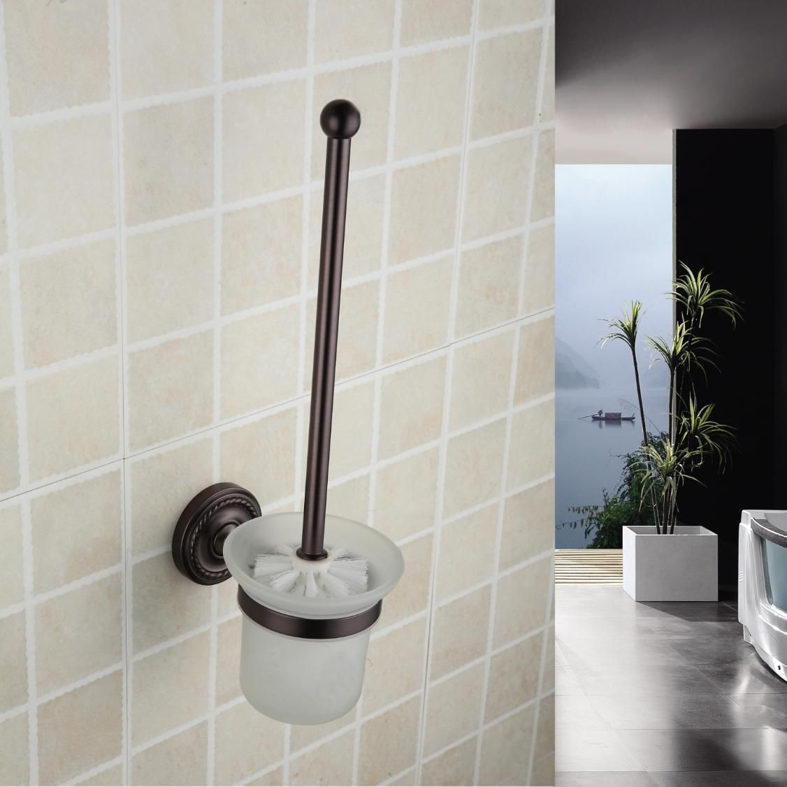 Oil Rubbed Bronze Wall Mounted Wall Mounted Toilet Brush Holder