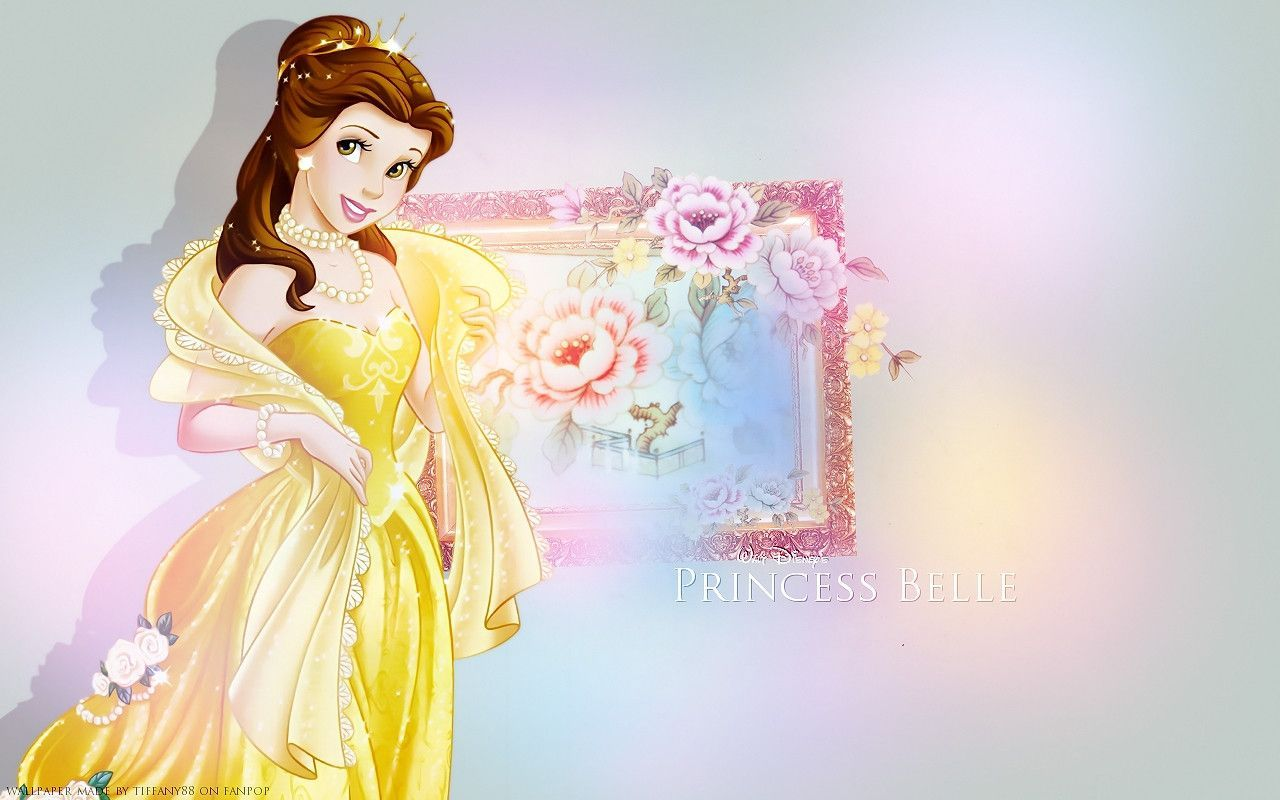 Disney Princess Belle Hd Wallpaper Free Download Wallpaper