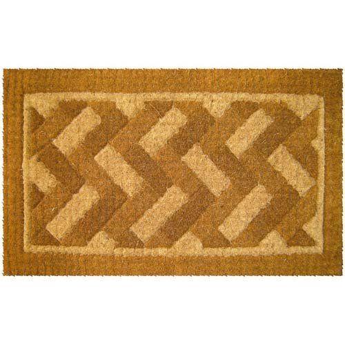 Diagonal Bricks Design Thick Coir Doormat By Coco Mats N More 42 98 Heavy Duty 1 5 Thick Coco Doormats Beautiful And Mo Brick Design Door Mat Coir Doormat