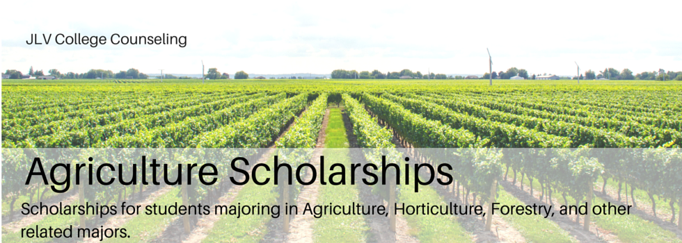 Scholarships open to students majoring in Agriculture
