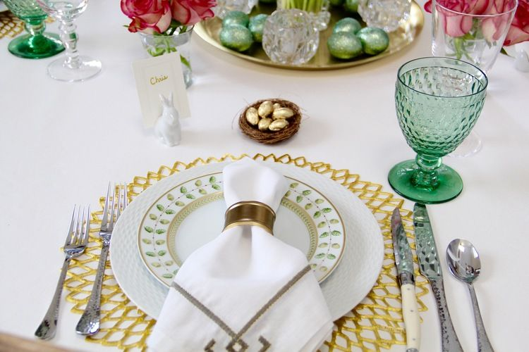 Welcome Chilewich Placemat Easter Tablescapes Table Settings