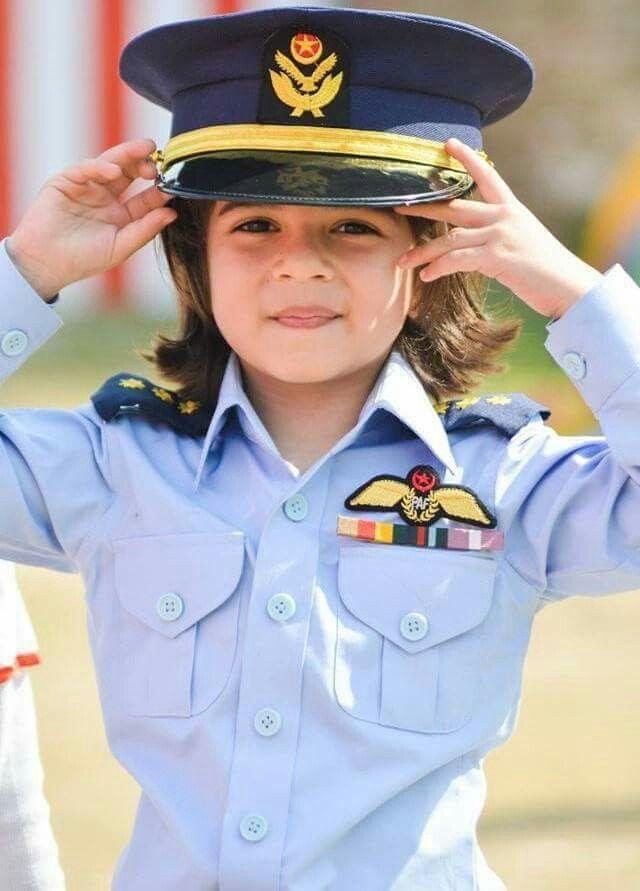 93d3329136d0f Cute kid in  PAF uniform Pakistan Images