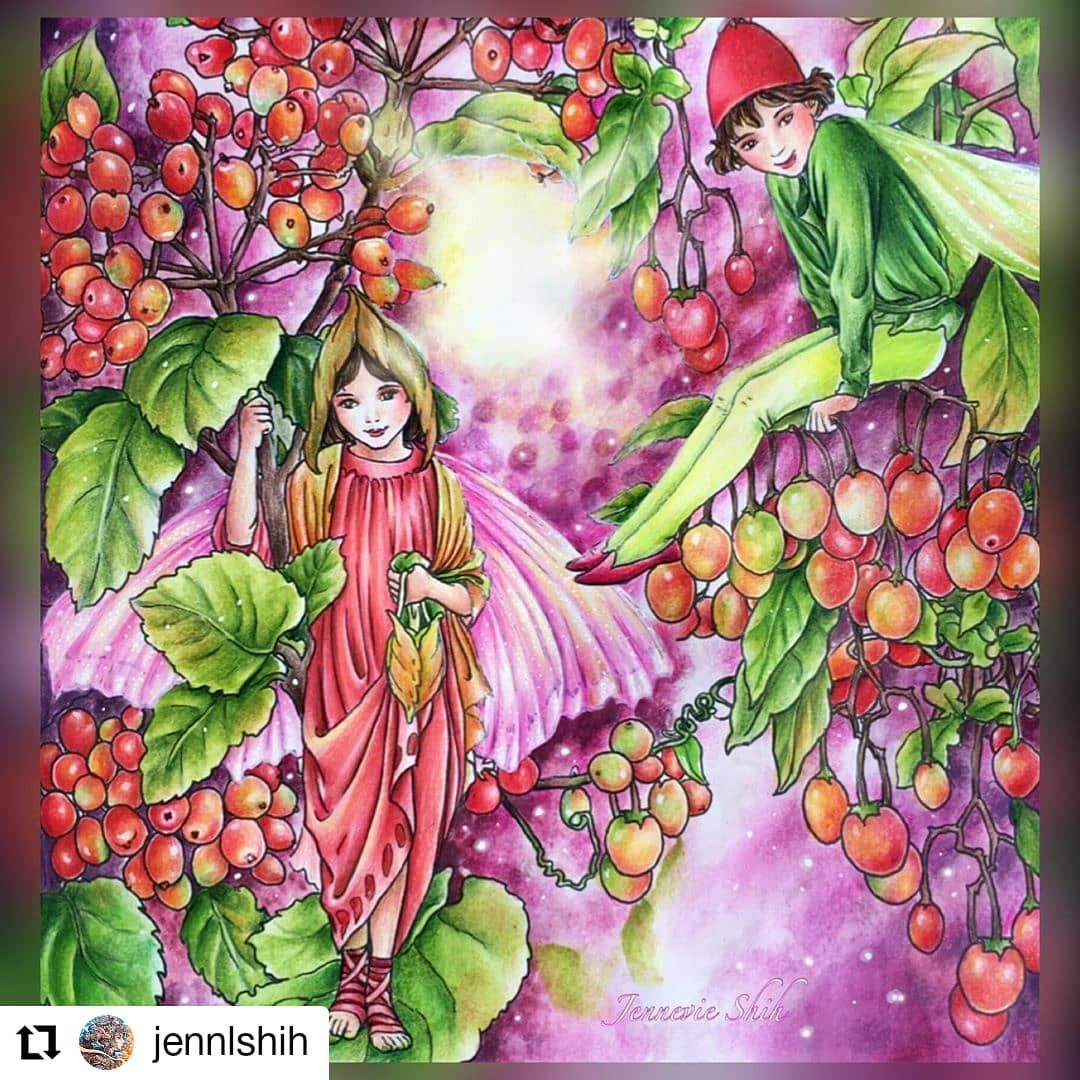 Gefallt 46 Mal 1 Kommentare Friends Who Colour Fwhocolour Auf Instagram Your Faries Look So Magical And Stunning Love The Beautiful Flowers Too