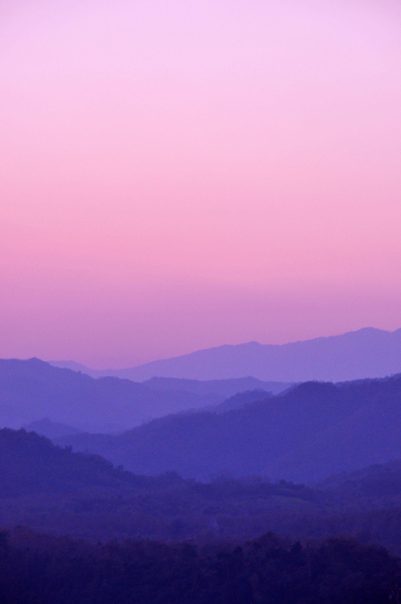 Purple Haze In 2020 Sky Painting Beautiful Landscapes Purple Sky