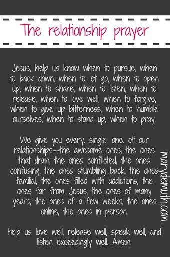 prayer for dating relationship