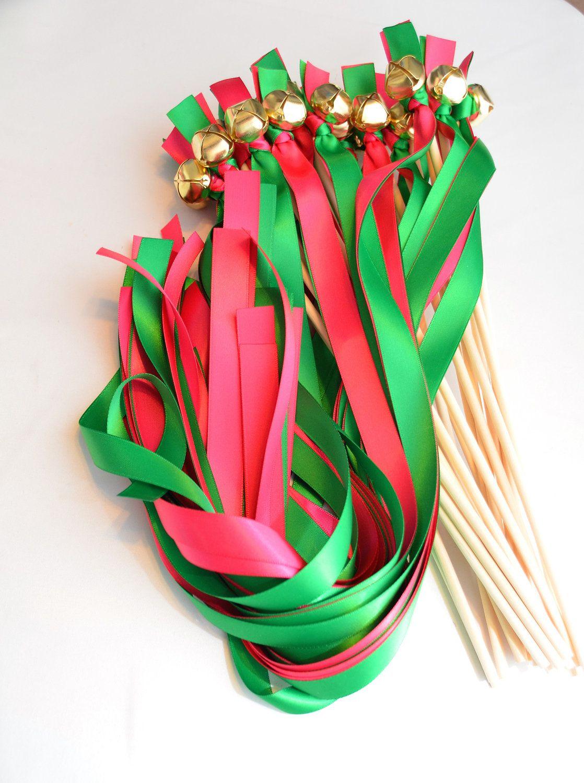 20 Ribbon Bell Wands Divinity Braid Send off Bells