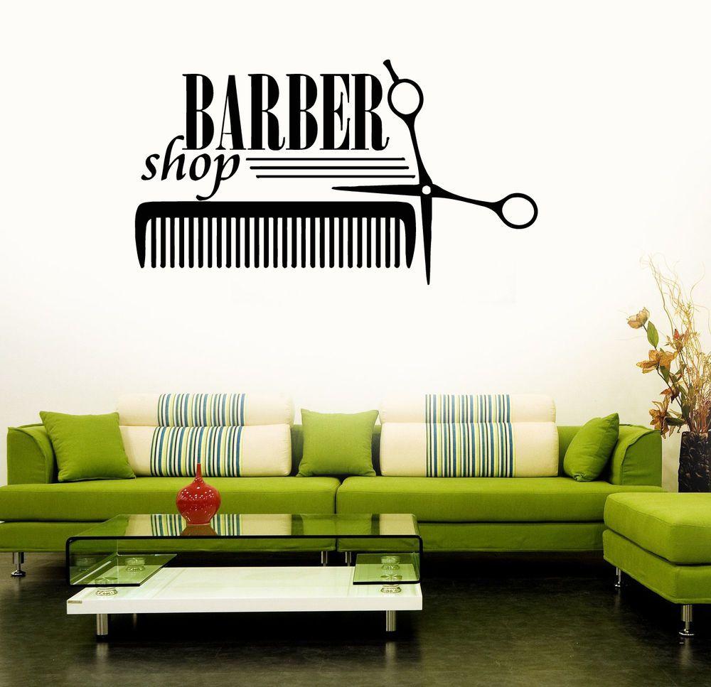 Barber Shop Sign Wall Art Quote Sticker Hair Beauty Salon Hairdresser  DESIGN 2