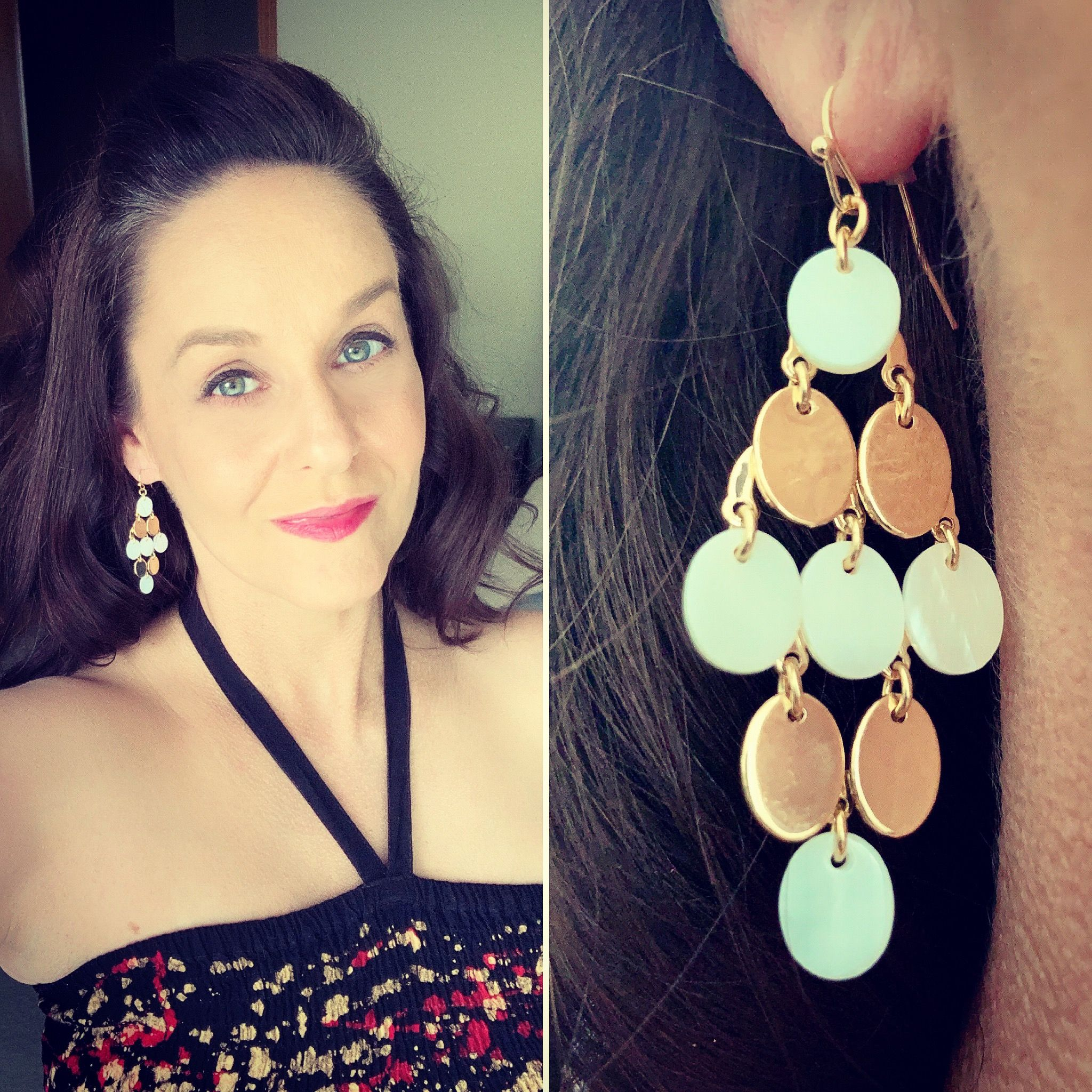 Heading Out To Dinner With The Hubs And Some Of His Team At Work It Ll Be My First Time Meeting Them Even Though H Kite Earrings Mother Pearl Jewelry Junkie