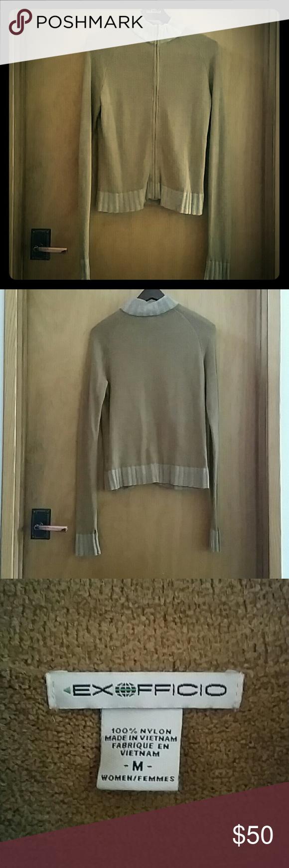 Womans Exofficio Zip Up Fleece sweatshirt Soft & Cozy Extra long sleeves! Exofficio Sweaters Cowl & Turtlenecks