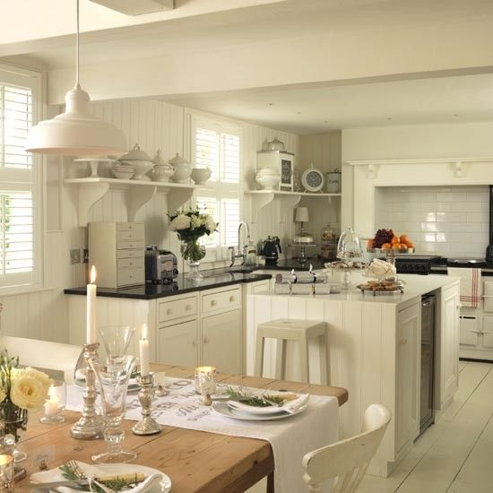 Rustic country kitchen-diner | Family kitchen design ideas | housetohome.co.uk