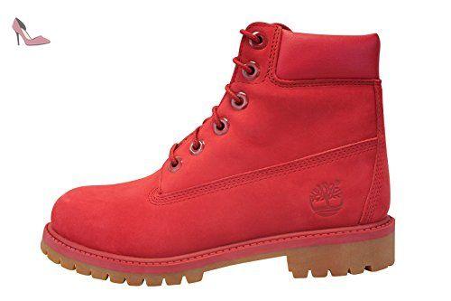 Timberland 6 inch Premium Wp Boot Junior Rouge Rouge 38