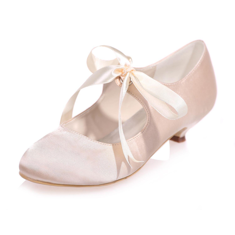 Creativesugar Vintage Style Ribbon Tie Bridal Wedding Shoes Lower Heel Womens Wedding Shoes White Wedding Shoes Low Heel Wedding Shoes Heels