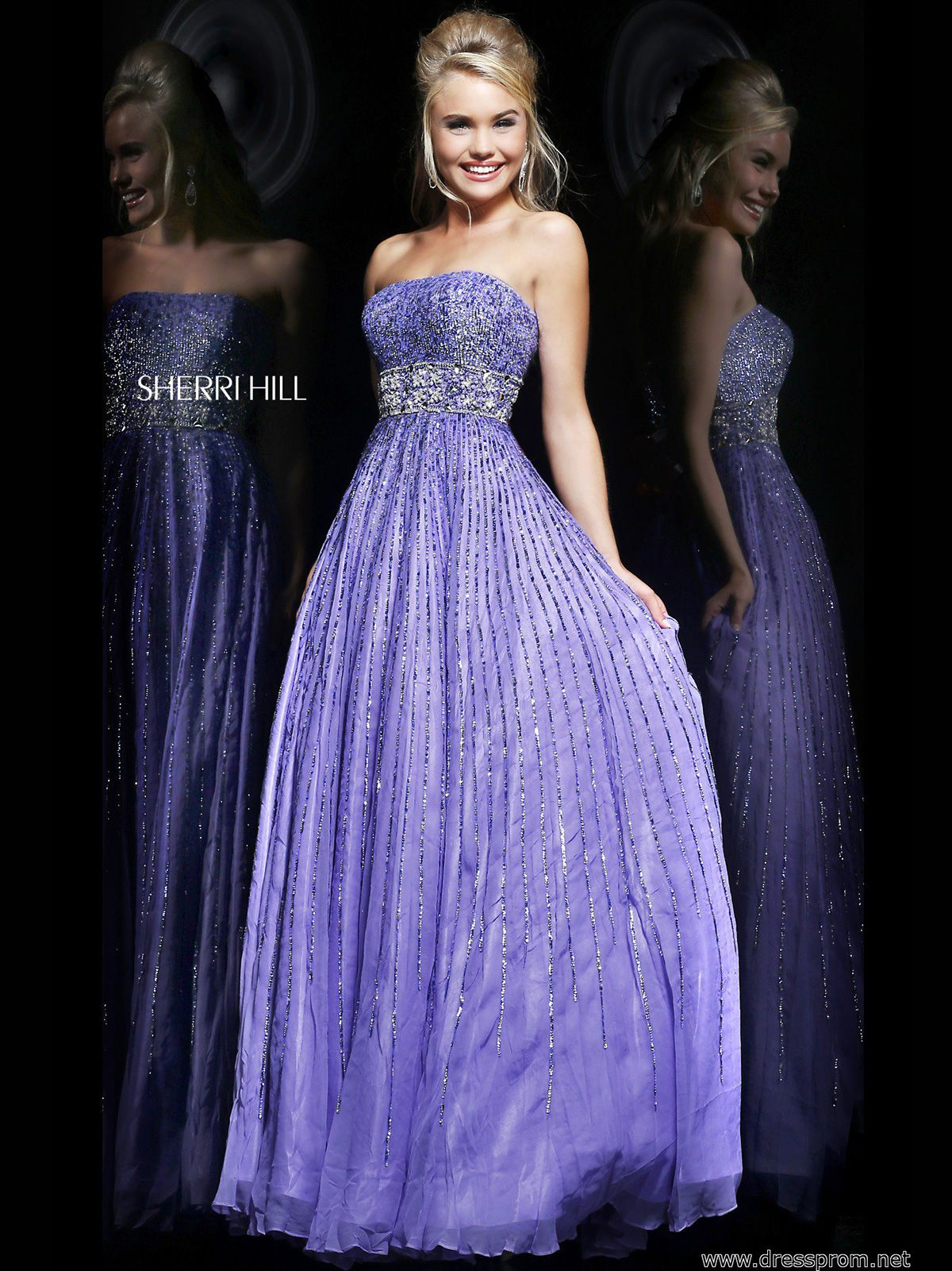 This sparkling sherri hill prom dress is perfect to bring the