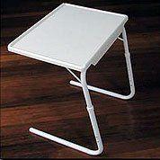 Adjule Tv Tray Table Mate Clic Medium White 21 3