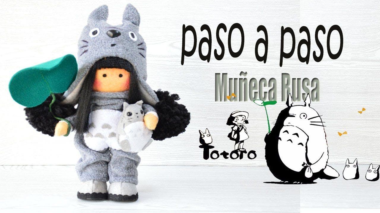 Como hacer el cuerpo y el vestido / muñeca Rusa Totoro - Moldes ...